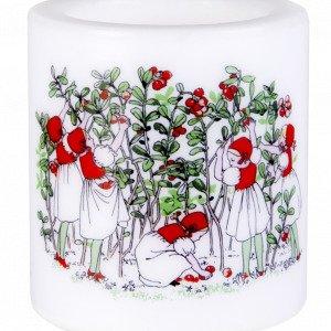 Muurla Elsa Beskow Kynttilä Puolukat Valkoinen 8 Cm
