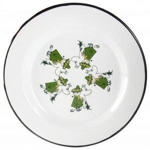 Muurla Muumi Emalilautanen Muumipeikko & Nuuskamuikkunen Vihreä 24 Cm