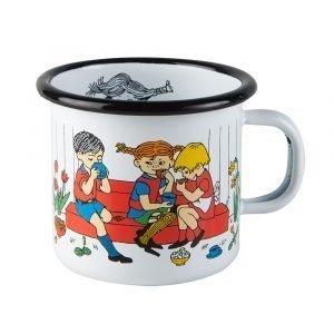 Muurla Peppi Pitkätossu Muki Cup Of Coffee Valkoinen 25 Cl