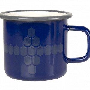 Muurla Vappu Keittiössä Emalimuki Sininen 37 Cl