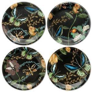 Nadja Wedin Design Bugs & Butterflies Lasinalunen Ø11 Cm 4-Pakkaus