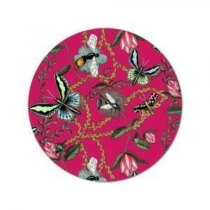 Nadja Wedin Design Bugs & Butterflies Pannunalunen Cerise Ø21 Cm