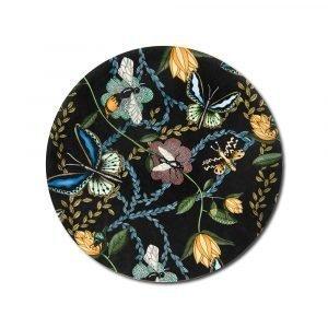 Nadja Wedin Design Bugs & Butterflies Pannunalunen Musta Ø21 Cm