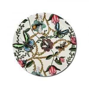 Nadja Wedin Design Bugs & Butterflies Pannunalunen Offwhite Ø21 Cm