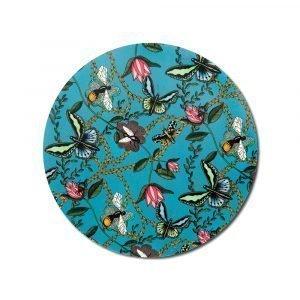 Nadja Wedin Design Bugs & Butterflies Pannunalunen Turkoosi Ø21 Cm