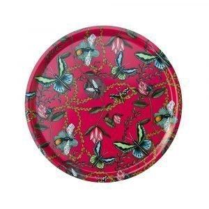 Nadja Wedin Design Bugs & Butterflies Tarjotin Cerise Ø65 Cm