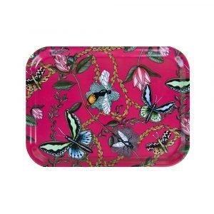 Nadja Wedin Design Bugs & Butterflies Tarjotin Cerise 27x20 Cm