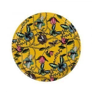 Nadja Wedin Design Bugs & Butterflies Tarjotin Keltainen Ø38 Cm