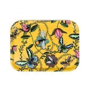 Nadja Wedin Design Bugs & Butterflies Tarjotin Keltainen 27x20 Cm