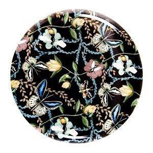 Nadja Wedin Design Bugs & Butterflies Tarjotin Musta Ø46 Cm