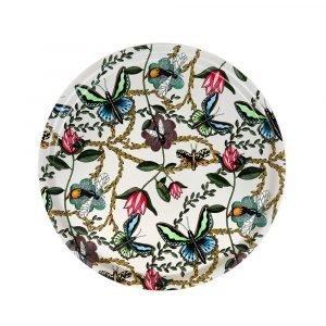 Nadja Wedin Design Bugs & Butterflies Tarjotin Offwhite Ø38 Cm