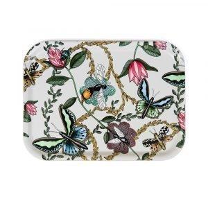 Nadja Wedin Design Bugs & Butterflies Tarjotin Offwhite 27x20 Cm