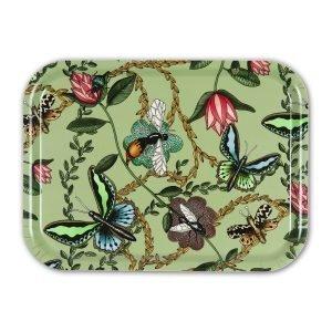 Nadja Wedin Design Bugs & Butterflies Tarjotin Vihreä 27x20 Cm