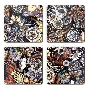 Nadja Wedin Design Flores Lasinalunen Ruskea 9x9 Cm