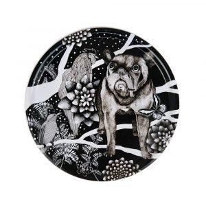 Nadja Wedin Design Franska Hunden Tarjotin Ø38 Cm