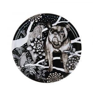 Nadja Wedin Design Franska Hunden Tarjotin Ø65 Cm