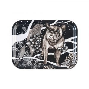 Nadja Wedin Design Franska Hunden Tarjotin 27x20 Cm
