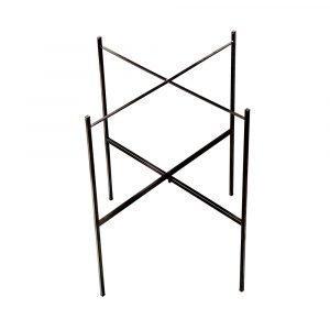 Nadja Wedin Design Jalusta Tarjotinpöydälle Musta 50 Cm Ø46 Cm