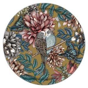 Nadja Wedin Design Lovebirds Tarjotin Kulta 38 Cm