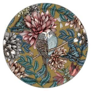 Nadja Wedin Design Lovebirds Tarjotin Kulta 65 Cm