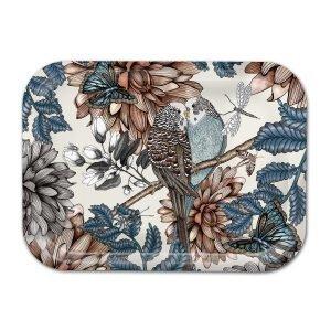 Nadja Wedin Design Lovebirds Tarjotin Luonnonvalkea 27x20 Cm