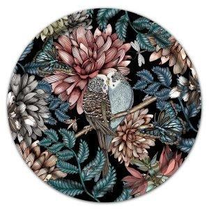 Nadja Wedin Design Lovebirds Tarjotin Musta Ø38 Cm