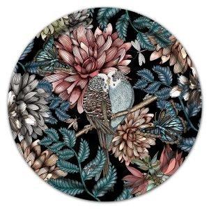 Nadja Wedin Design Lovebirds Tarjotin Musta Ø46 Cm