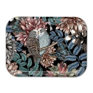 Nadja Wedin Design Lovebirds Tarjotin Musta 27x20 Cm