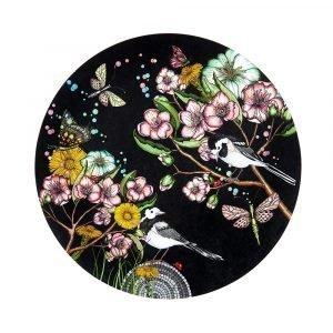 Nadja Wedin Design Wagtails Spring Pannunalunen Musta Ø21 Cm
