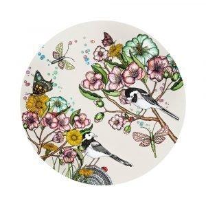 Nadja Wedin Design Wagtails Spring Pannunalunen Offwhite Ø21 Cm