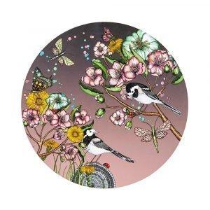 Nadja Wedin Design Wagtails Spring Pannunalunen Rose Ø21 Cm