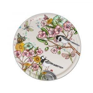 Nadja Wedin Design Wagtails Spring Tarjotin Offwhite Ø46 Cm