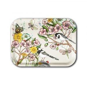 Nadja Wedin Design Wagtails Spring Tarjotin Offwhite 27x20 Cm