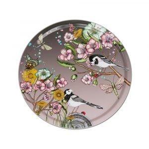 Nadja Wedin Design Wagtails Spring Tarjotin Rose Ø38 Cm