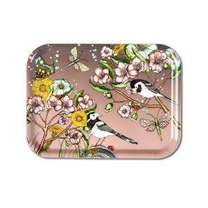 Nadja Wedin Design Wagtails Spring Tarjotin Rose 27x20 Cm