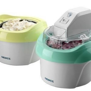 Nemox Duo Mio Plus Jäätelökone Valkoinen/Vihreä ja Valkoinen/Keltainen 1+1 litraa
