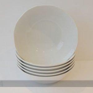 Nn Valkoinen Kulho Afrodyta Ø18cm 6 Kpl