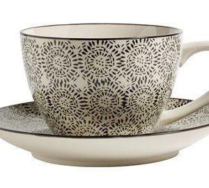 Nordal Blossom teekuppi XL musta