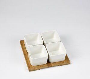 Nordic Sense Snack-setti 5-osainen valkoinen
