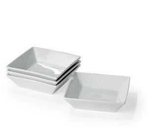 Nordic Sense Syvä lautanen 18x18 neliö valkoinen