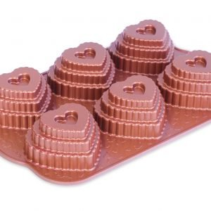 Nordic Ware Tiered Heart Kakkuvuoka Alumiini