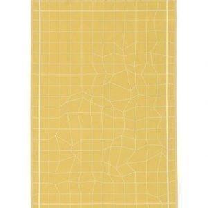 Normann Copenhagen Illusion Keittiöpyyhe Keltainen