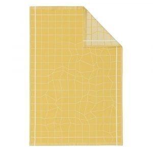 Normann Copenhagen Illusion Keittiöpyyhe Keltainen 75x50 Cm