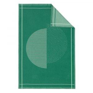 Normann Copenhagen Illusion Keittiöpyyhe Vihreä 75x50 Cm