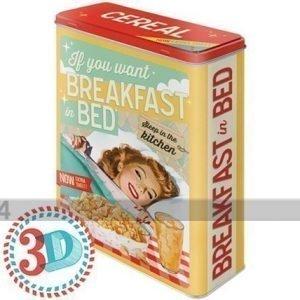 Nostalgic Art Peltipurkki 3d If You Want Breakfast In Bed 4 L