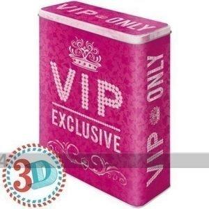 Nostalgic Art Peltipurkki 3d Vip Only Pink 4 L