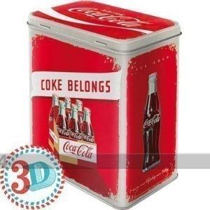 Nostalgic Art Peltipurkki Coca-Cola Coke Belongs 3 L