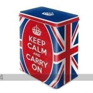 Nostalgic Art Peltipurkki Keep Calm And Carry On 3 L