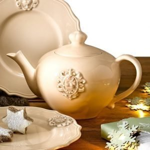 Nuova Ceramica Artisan Teekannu Kermanvalkoinen