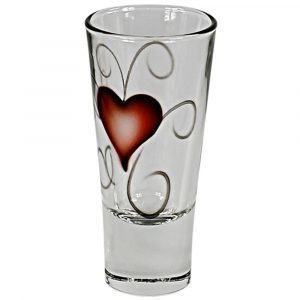 Nybro Crystal Heart Shottilasi 7 Cl 2-Pakkaus
